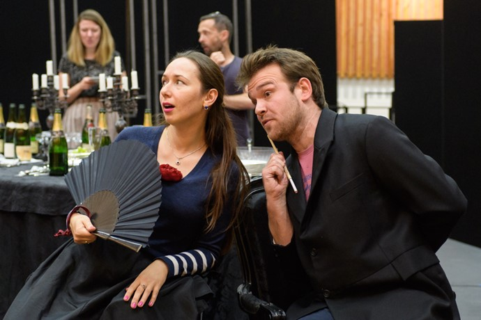 Gulnara Shafigullina and Luke Sinclair in rehearsals for La traviata. Scottish Opera 2017. Credit Jane Hobson. (2).jpg