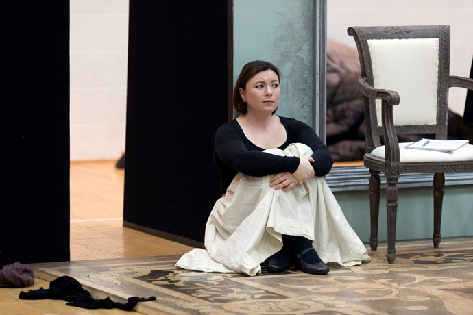 Natalya Romaniw in rehearsals for Eugene Onegin. Scottish Opera 2018. Credit James Glossop. (3).JPG