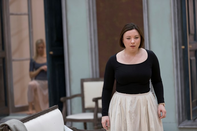 Natalya Romaniw in rehearsals for Eugene Onegin. Scottish Opera 2018. Credit James Glossop..JPG