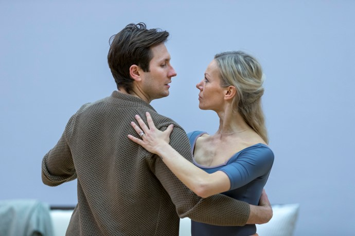 Samuel Dale Johnson and Eve Mutso in rehearsals for Eugene Onegin. Scottish Opera 2018. Credit James Glossop..JPG