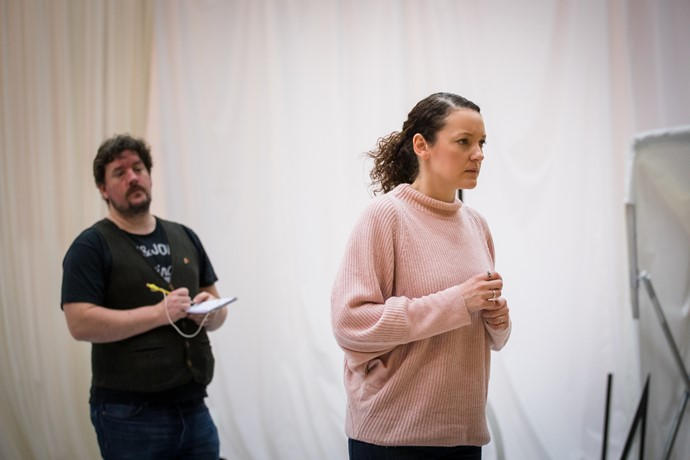 Benedict Nelson and Jennifer France in rehearsal for Anthropocene. Scottish Opera 2018. Credit Nadine Boyd.jpg