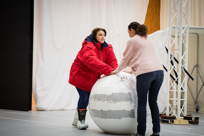 Jeni Bern and Jennifer France in rehearsal for Anthropocene. Scottish Opera 2018. Credit Nadine Boyd 2.jpg