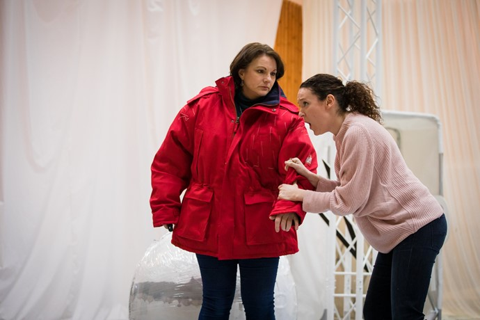 Jeni Bern and Jennifer France in rehearsal for Anthropocene. Scottish Opera 2018. Credit Nadine Boyd 3.jpg