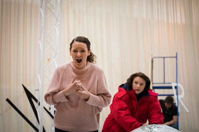 Jennifer France and Jeni Bern in rehearsal for Anthropocene. Scottish Opera 2018. Credit Nadine Boyd.jpg