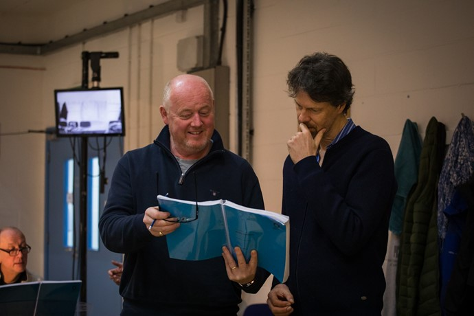 Mark Le Brocq and Paul Whelan in rehearsal for Anthropocene. Scottish Opera 2018. Credit Nadine Boyd.jpg