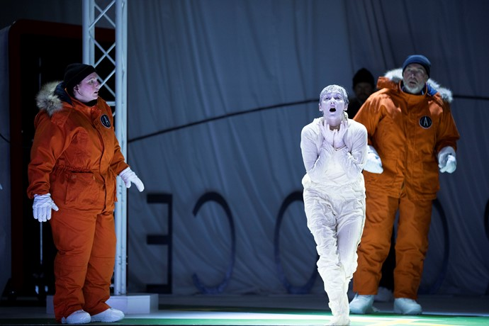 Jeni Bern, Jennifer France and Stephen Gadd in Anthropocene. Scottish Opera 2019. Credit James Glossop..JPG