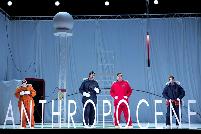 Jeni Bern, Paul Whelan, Mark Le Brocq and Anthony Gregory in Anthropocene. Scottish Opera 2019. Credit James Glossop..JPG