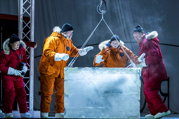 Sarah Champion, Stephen Gadd, Jeni Bern and Mark Le Brocq in Anthropocene. Scottish Opera 2019. Credit James Glossop..JPG