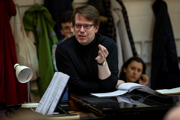 Conductor Tobias Ringborg in rehearsals for The Magic Flute. Scottish Opera 2019. Credit James Glossop.JPG