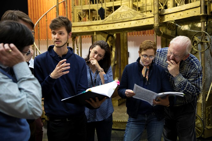 The creative team for The Magic Flute in rehearsals. Scottish Opera 2019. Credit James Glossop.JPG