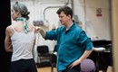 Director Tom Morris with Sara Brodie (Associate Director and Movement) during Breaking the Waves rehearsals. Credit Julie Howden..jpg