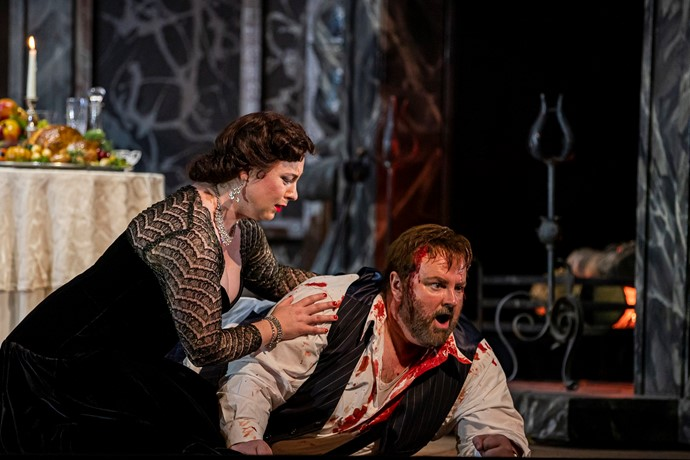 Natalya Romaniw as Tosca and Gwyn Hughes Jones as Cavaradossi. Scottish Opera 2019. Credit James Glossop..JPG (1)