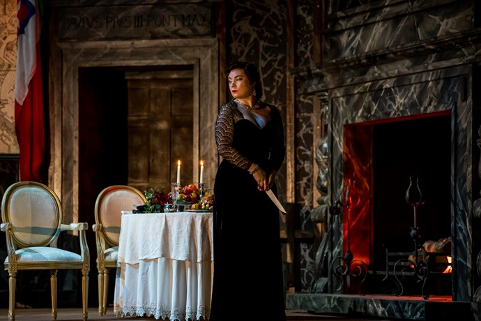 Natalya Romaniw as Tosca. Scottish Opera 2019. Credit James Glossop.