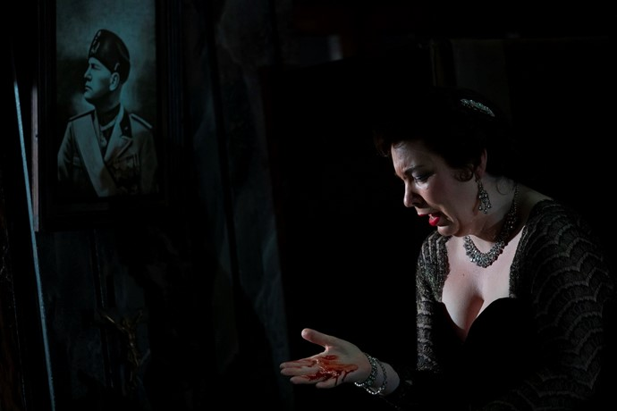 Natalya Romaniw as Tosca. Scottish Opera 2019. Credit James Glossop