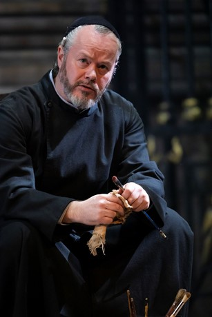 Paul Carey Jones as Sacristan in Tosca. Scottish Opera 2019. Credit James Glossop