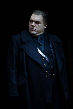 Roland Wood as Scarpia in Tosca. Scottish Opera 2019. Credit James Glossop