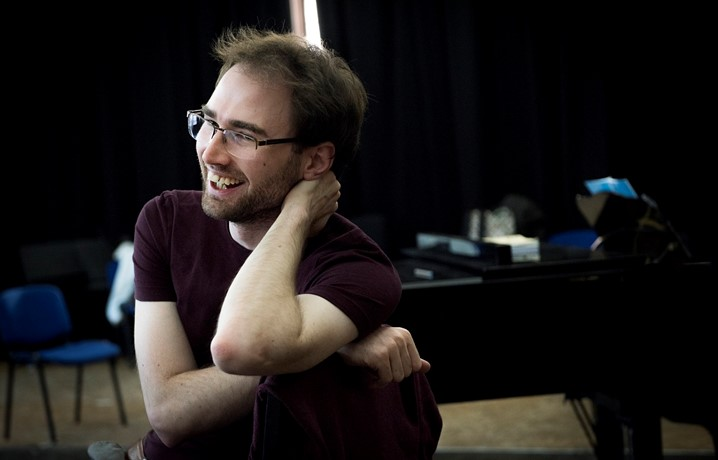 Jonathon Swinard, Scottish Opera Young Company Artistic Director, in rehearsal.JPG