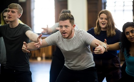 Scottish Opera Young Company in rehearsal for The Frogs. Scottish Opera 2019. Credit Julie Howden (5).JPG
