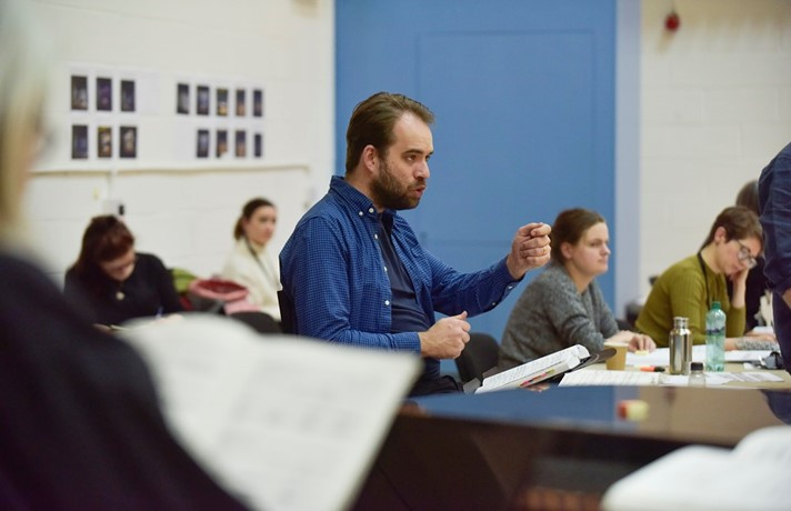 Timothy Burke, Assistant Conductor during A Midsummer Night's Dream rehearsals. Scottish Opera 2020. Credit Julie Howden..JPG