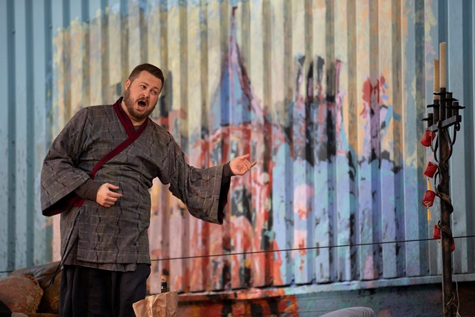 David Ireland (Colline). La Boheme Dress Rehearsal. Scottish Opera 2020. Credit James Glossop.JPG